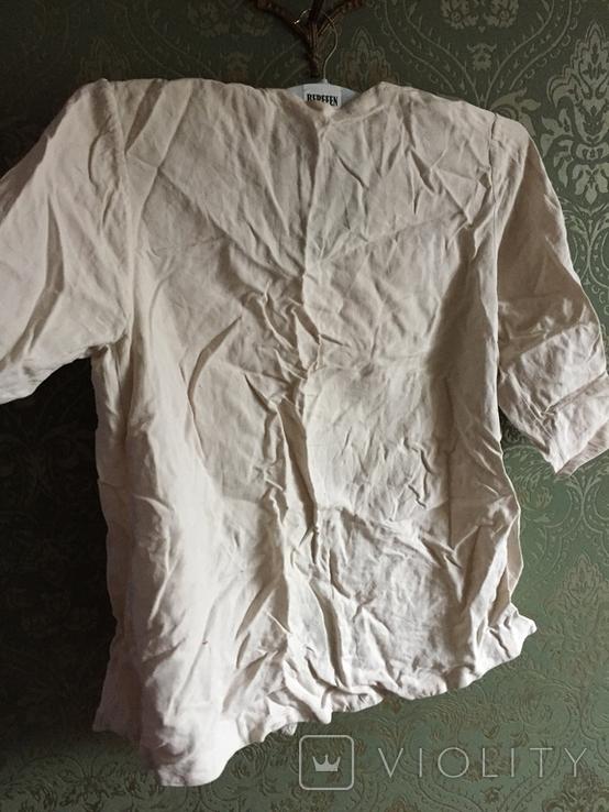 Жакет вышивка лен, фото №6