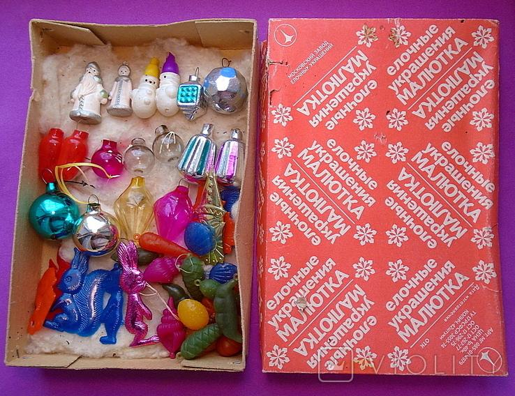 """Набор елочных игрушек """"Малютка"""" в коробке., фото №2"""