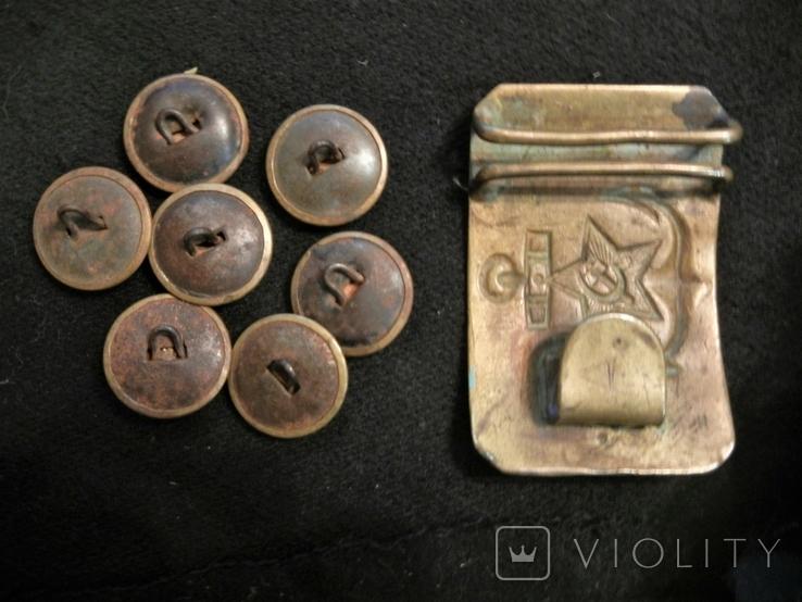 ЧВМФ 1943 Севастополь 7шт пуговиц и пряжка, фото №4