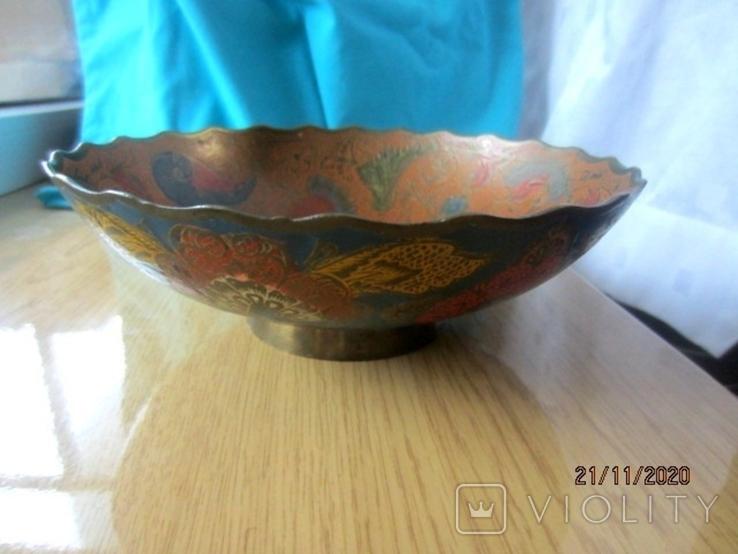 Фруктовница латунь. Эмали. Индия., фото №4