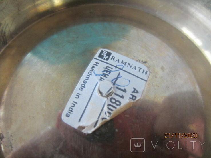 Фруктовница латунь. Эмали. Индия., фото №6