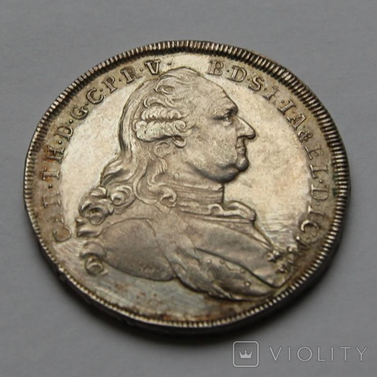 Талер Карл Бавария 1786 серебро. 28,04г, фото №2