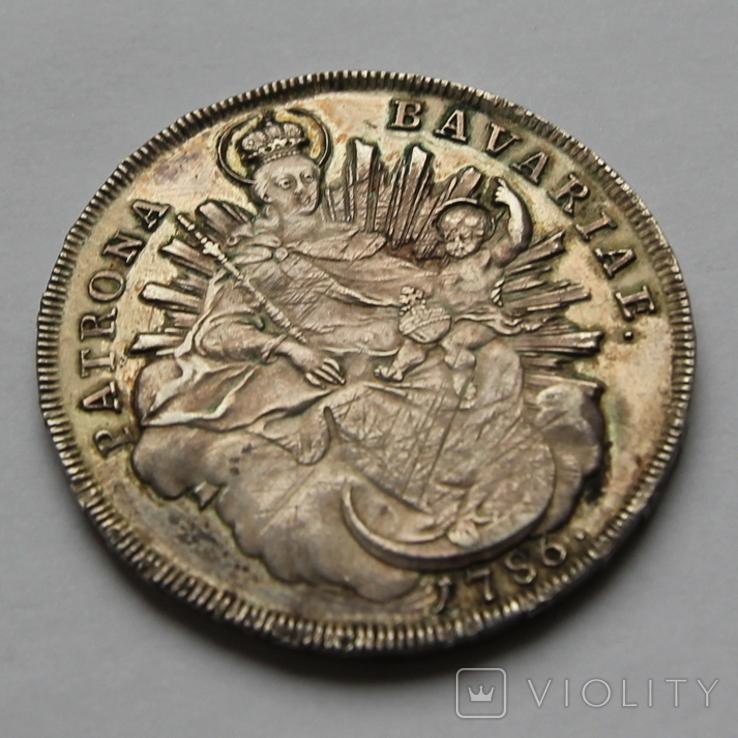 Талер Карл Бавария 1786 серебро. 28,04г, фото №3