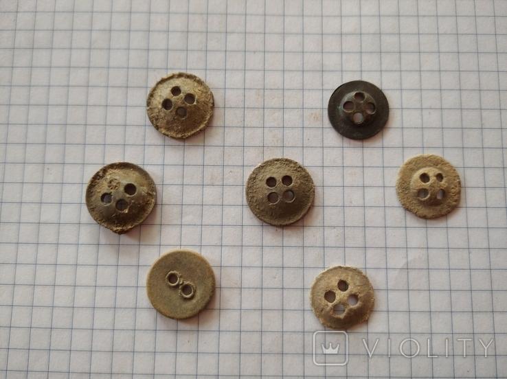 Пуговицы-ретузницы (лот 1), 7 шт., фото №3