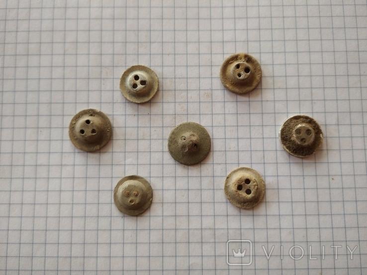 Пуговицы-ретузницы (лот 2), 7 шт., фото №3