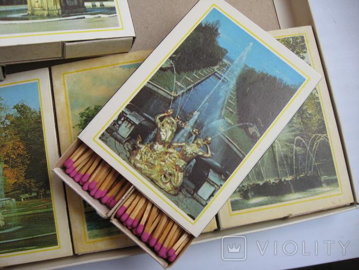 Сувенирные спички Фонтаны Петродворца, СССР, фото №12