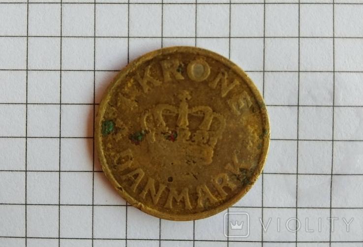 1 Crone danmark 1925, фото №2