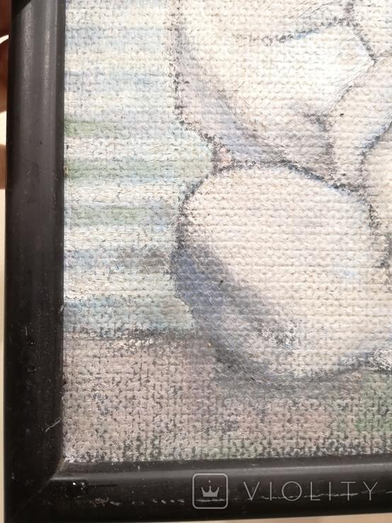"""Картина """"П'єро"""", олія, картон,, фото №4"""
