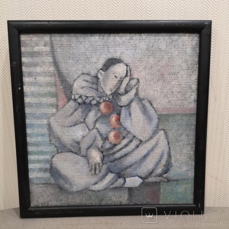 """Картина """"П'єро"""", олія, картон,, фото №2"""