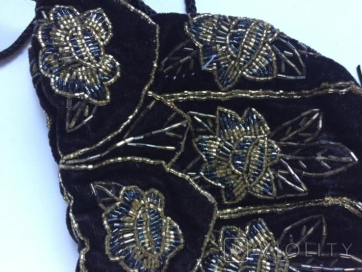 Сумочка с вышивкой стеклярусом, фото №3