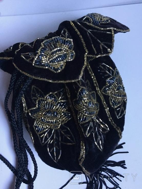 Сумочка с вышивкой стеклярусом, фото №5