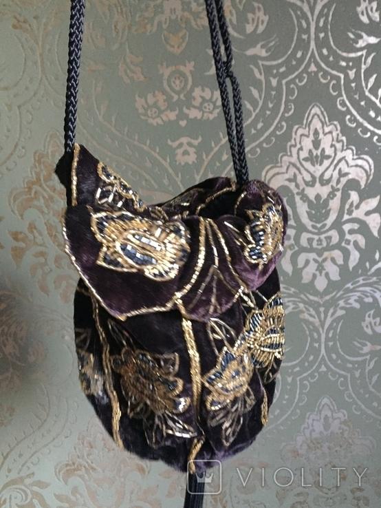 Сумочка с вышивкой стеклярусом, фото №7