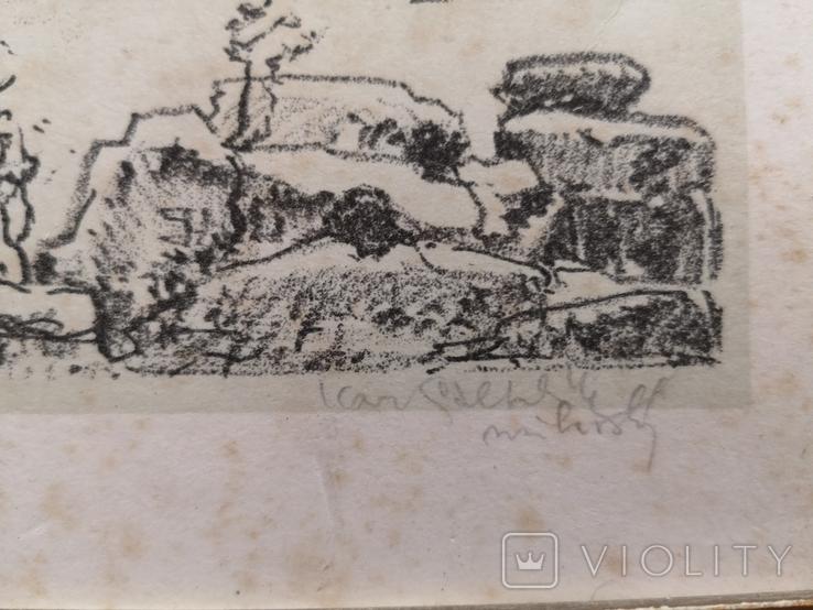 """Картина """"Замкова гора"""", дереворит, рідна рама, фото №4"""