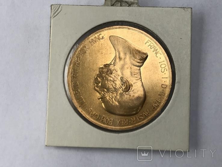 100 корон 1908 Франц Иосиф  60 лет правления, фото №5