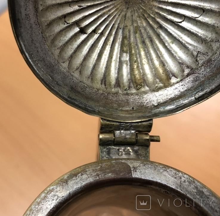 Старинный графин. Хрусталь, бронза. Высота - 32 см, фото №9
