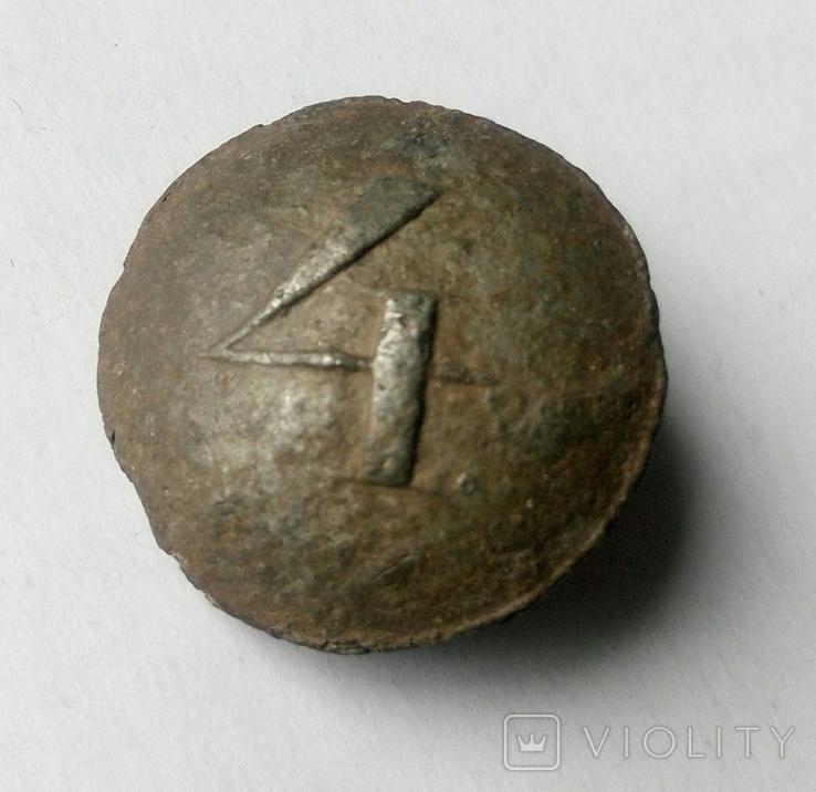 Пуговица РИА №4 оловянная, фото №4