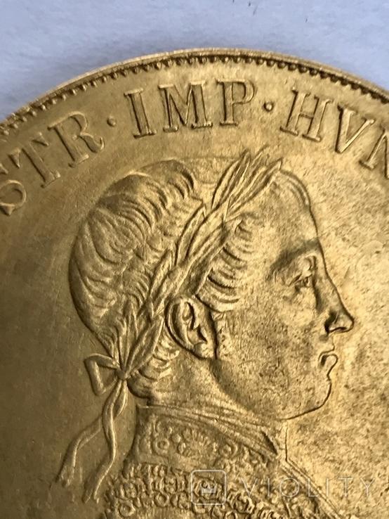 4 дуката 1848 Австро-Венгрия Фердинанд, фото №5