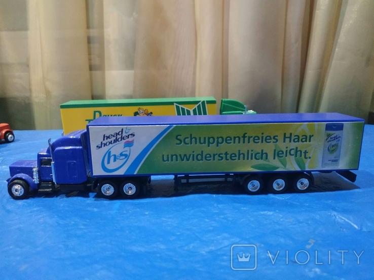 Грузовики из Германии с рекламой 3 шт., фото №4