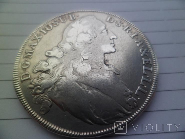 Бавария 1 талер Серебро 1765  рік, фото №2