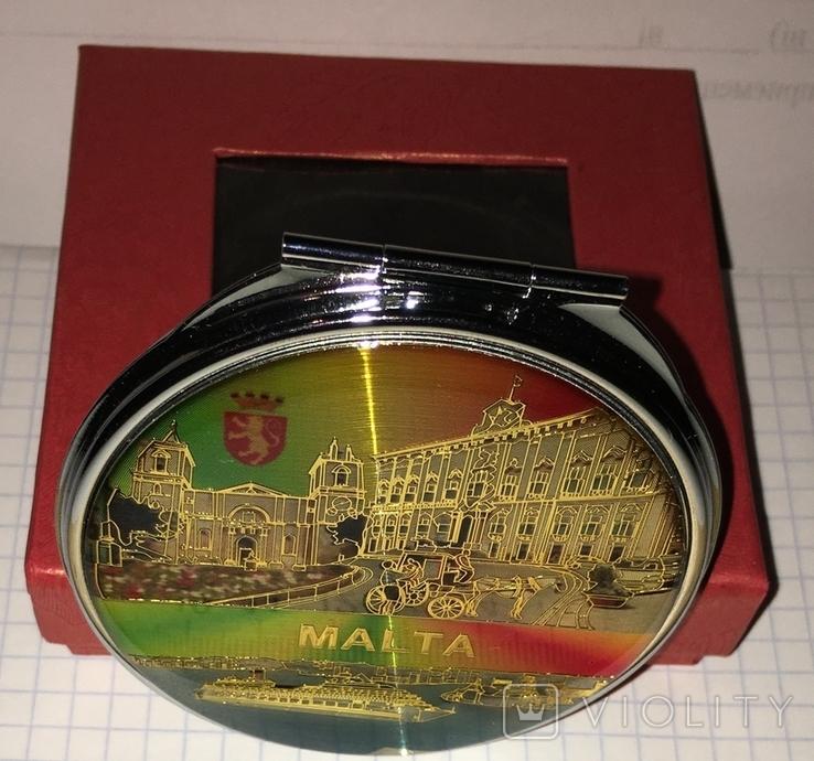 """Новое карманное зеркальце в родной коробке """"Мальта"""", фото №3"""