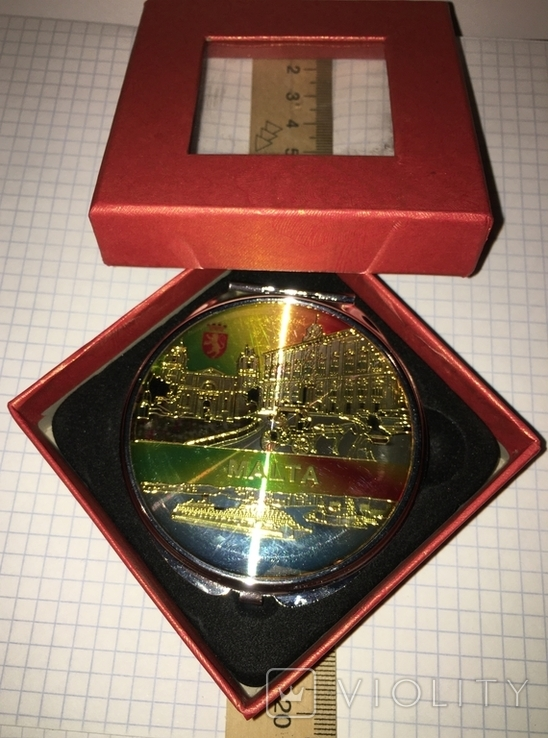 """Новое карманное зеркальце в родной коробке """"Мальта"""", фото №7"""
