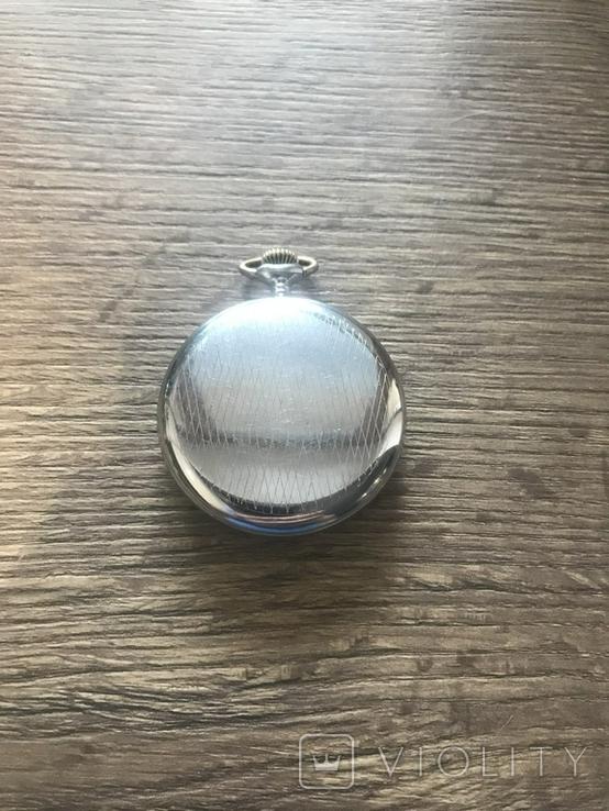 Карманные часы ЗиМ, 1950г, 15 камней, механизм белый, на ходу, обслуженные, фото №3