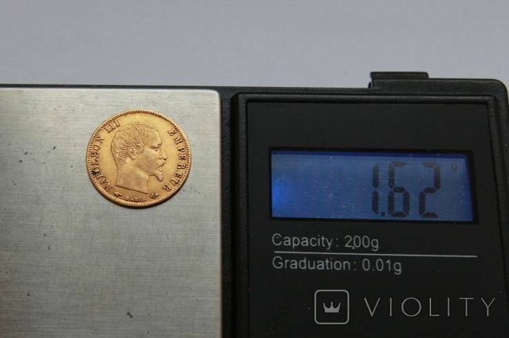 5 франков 1859 Наполеон III Франция. Золото 1,62г, фото №4