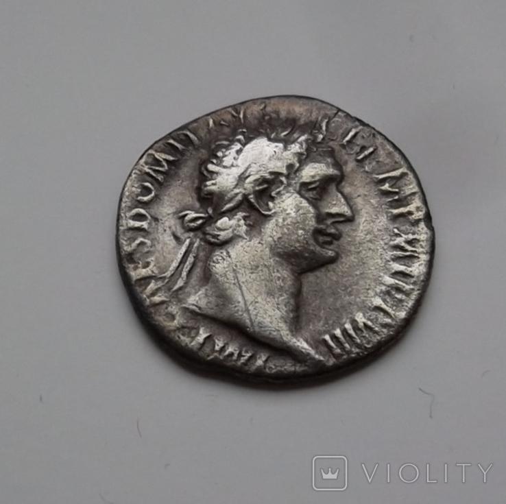 Денарий Домициан вес 2.67 гр, фото №3