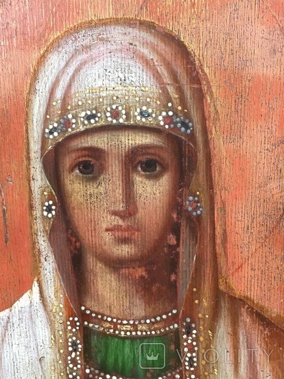 Св.Мученица Параскева(48.5х39.5) писала послушница Анастасия Феодорова, фото №3