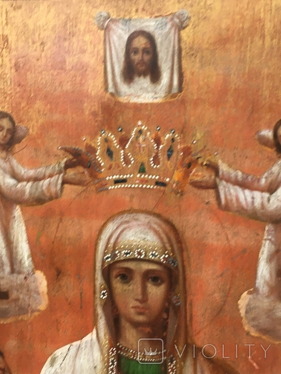 Св.Мученица Параскева(48.5х39.5) писала послушница Анастасия Феодорова, фото №6