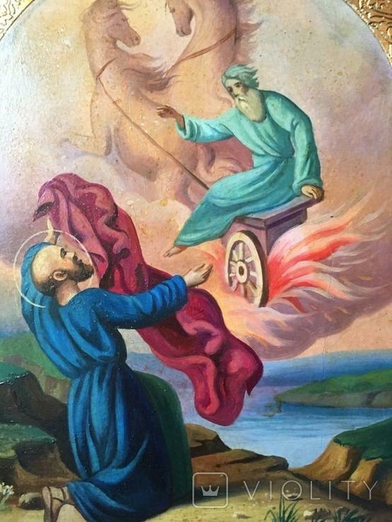 Икона Огненное Восхождение Ильи, фото №3