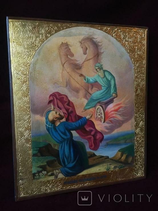 Икона Огненное Восхождение Ильи, фото №2