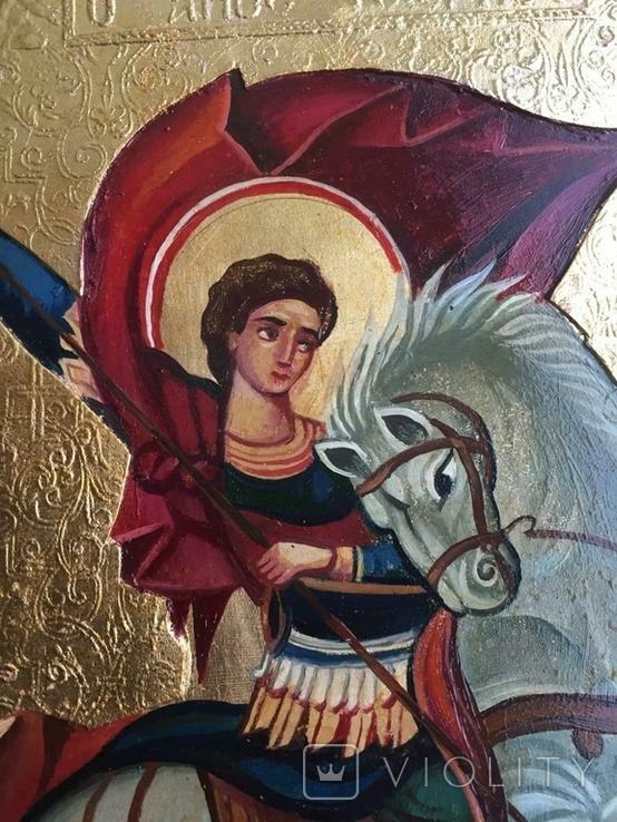 Икона Георгий Победоносец, фото №5