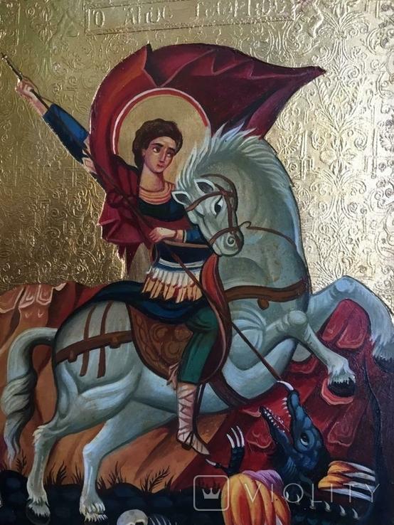 Икона Георгий Победоносец, фото №6