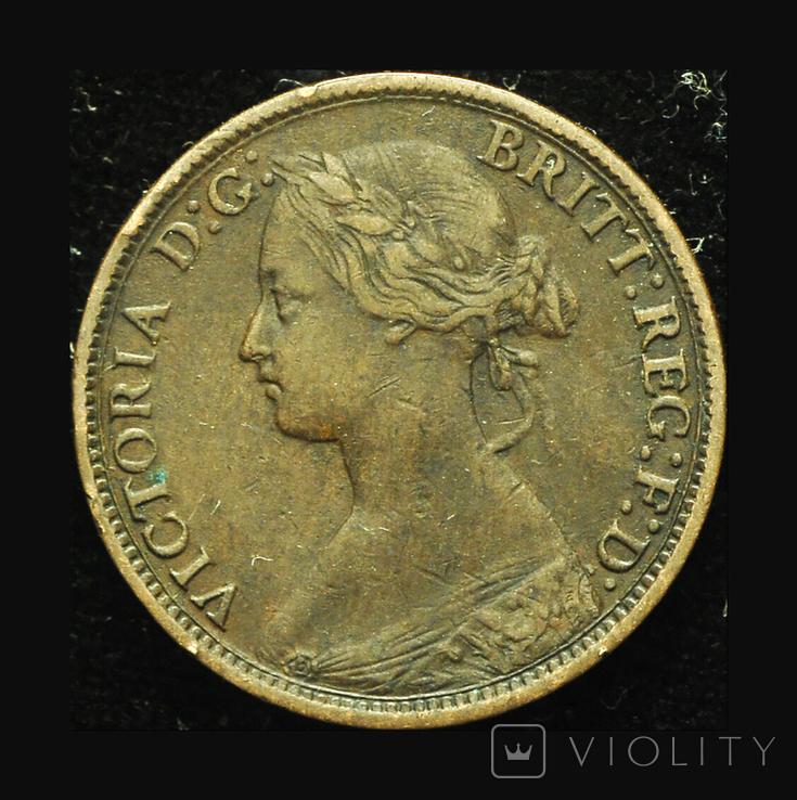 Великобритания фартинг 1861, фото №3