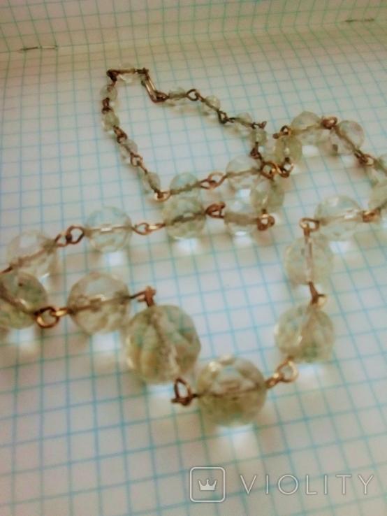 Ожерелье  Горный Хрусталь граненый, фото №2