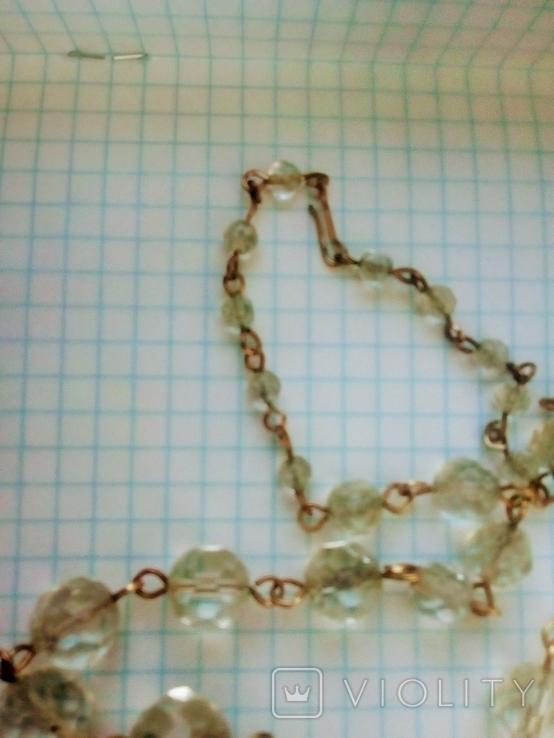 Ожерелье  Горный Хрусталь граненый, фото №5