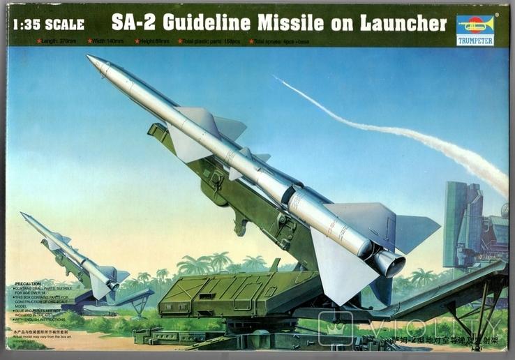 SA-2 Guideline Missile on Launcher. Сборная модель. Масштаб 1_35. Фирмы TRUMPETER. 00206