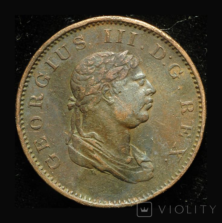 Эссекуибо и Демерари 1/2 штивера 1813, фото №2