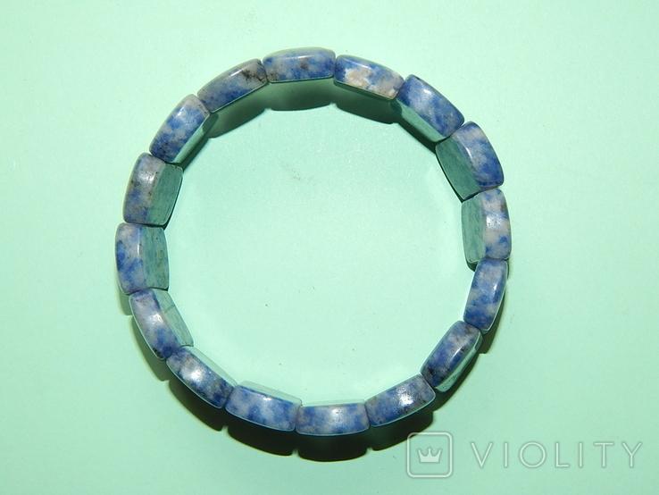 Браслет серо-голубой, фото №2