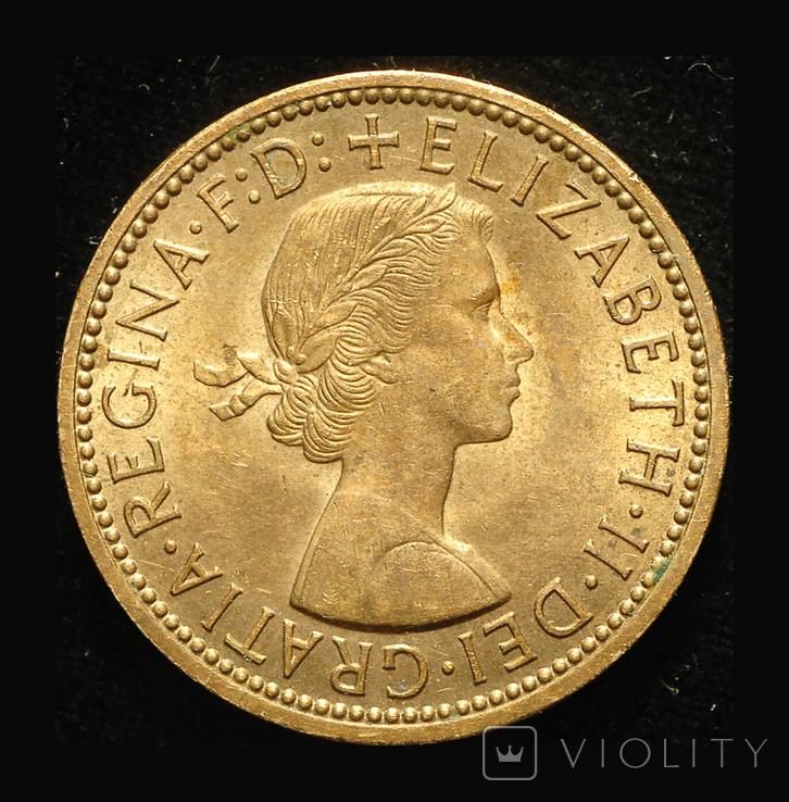 Великобритания 1/2 пенни 1967 Unc, фото №2