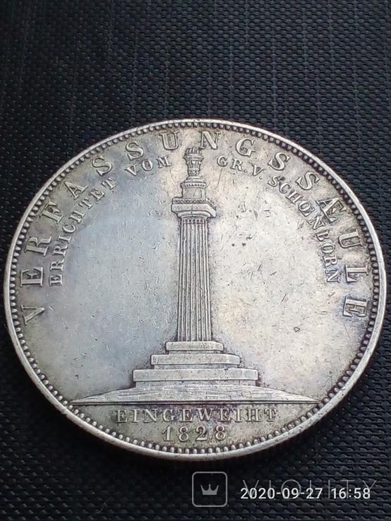 Таляр Баварії 1828 р. Ювілейний., фото №6
