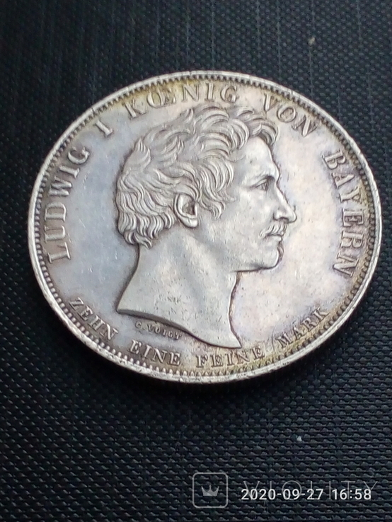 Таляр Баварії 1828 р. Ювілейний., фото №7