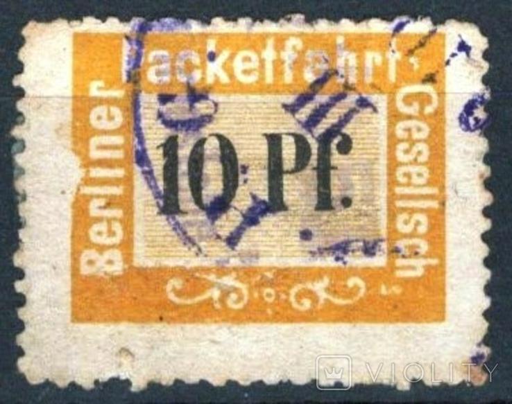Гг007 Германские города. Берлин 1884 №В3
