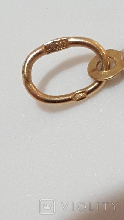 Золотой кулон, Божья Матерь, фото №5