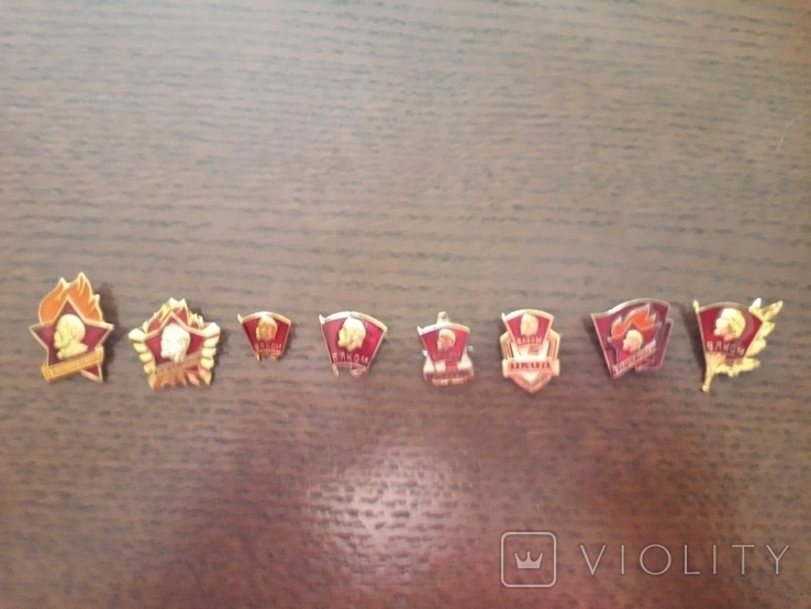 Набір комсомольських значків, фото №2