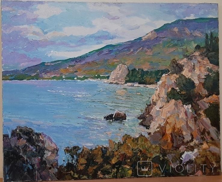*У синего моря* 65*80,х/м,Заслуженный худ.Украины Шаповалов С.Г., фото №2