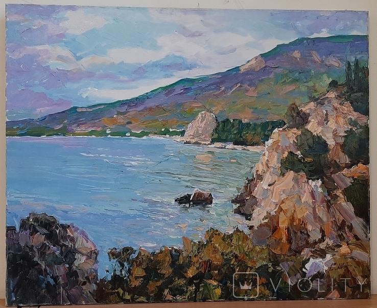 *У синего моря* 65*80,х/м,Заслуженный худ.Украины Шаповалов С.Г., фото №3