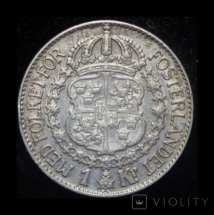 Швеция крона 1936 серебро, фото №2