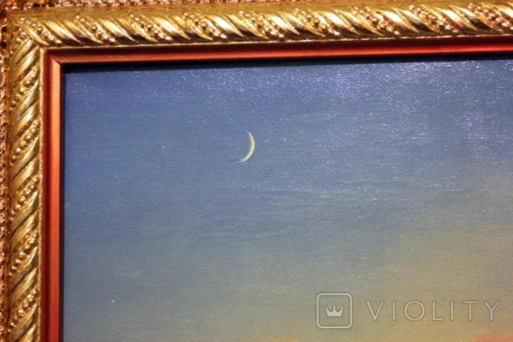 Копия картины худ .Айвазовского.(маринизм)-масло-холст, фото №3